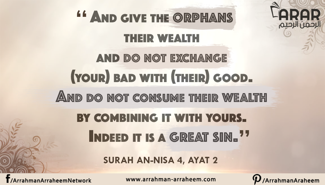 Give Orphans their wealth