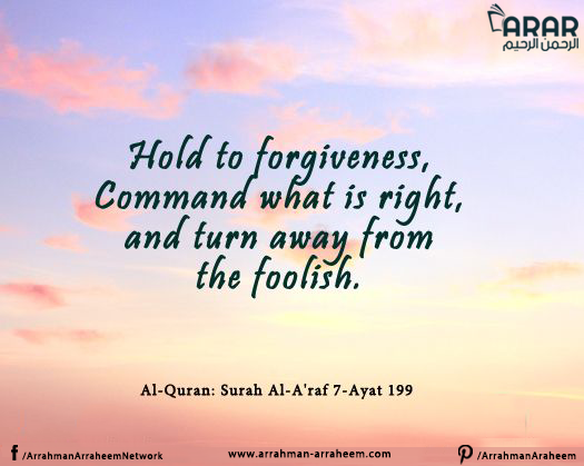 Hold to forgiveness
